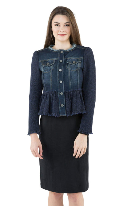 Rebecca Taylor Tweed Denim Jacket