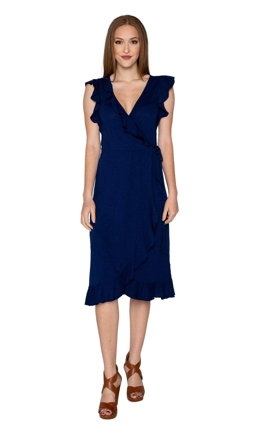 Velvet by Graham & Spencer Sedona Cotton Slub Ruffle Wrap Dress