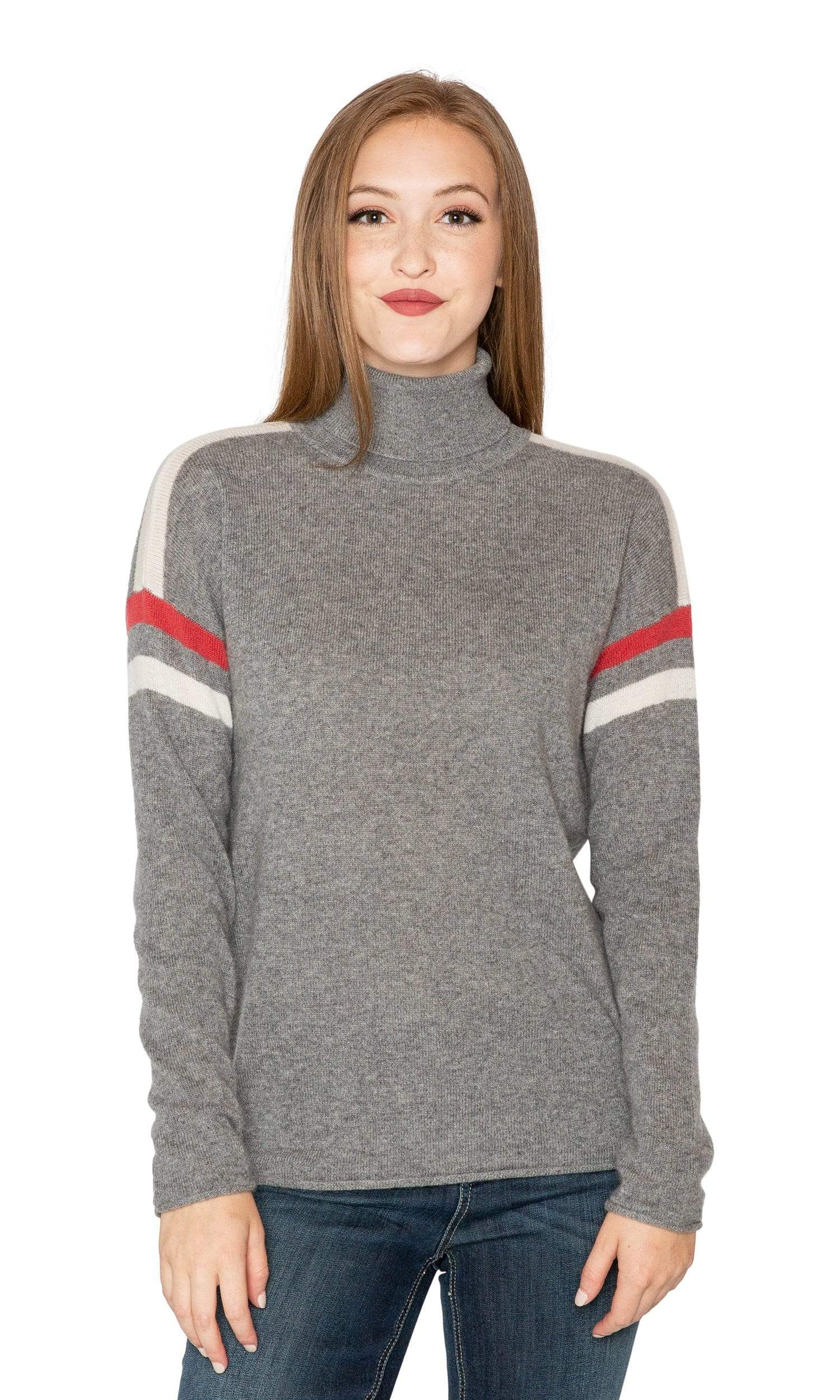 Velvet by Graham & Spencer Bonnie Stripe Cashmere Sweater