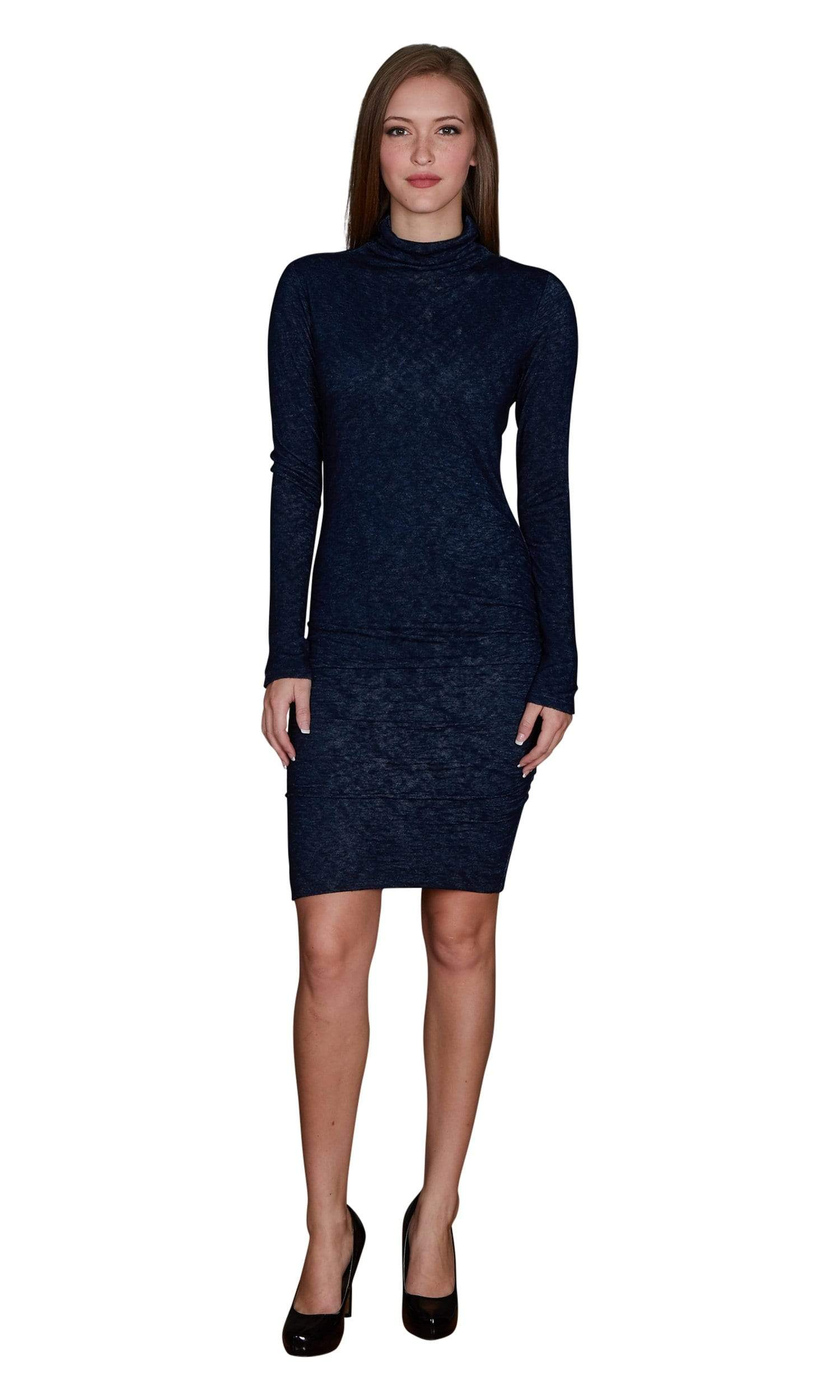 Velvet by Graham & Spencer Dacey Textured Knit Turtleneck Dress