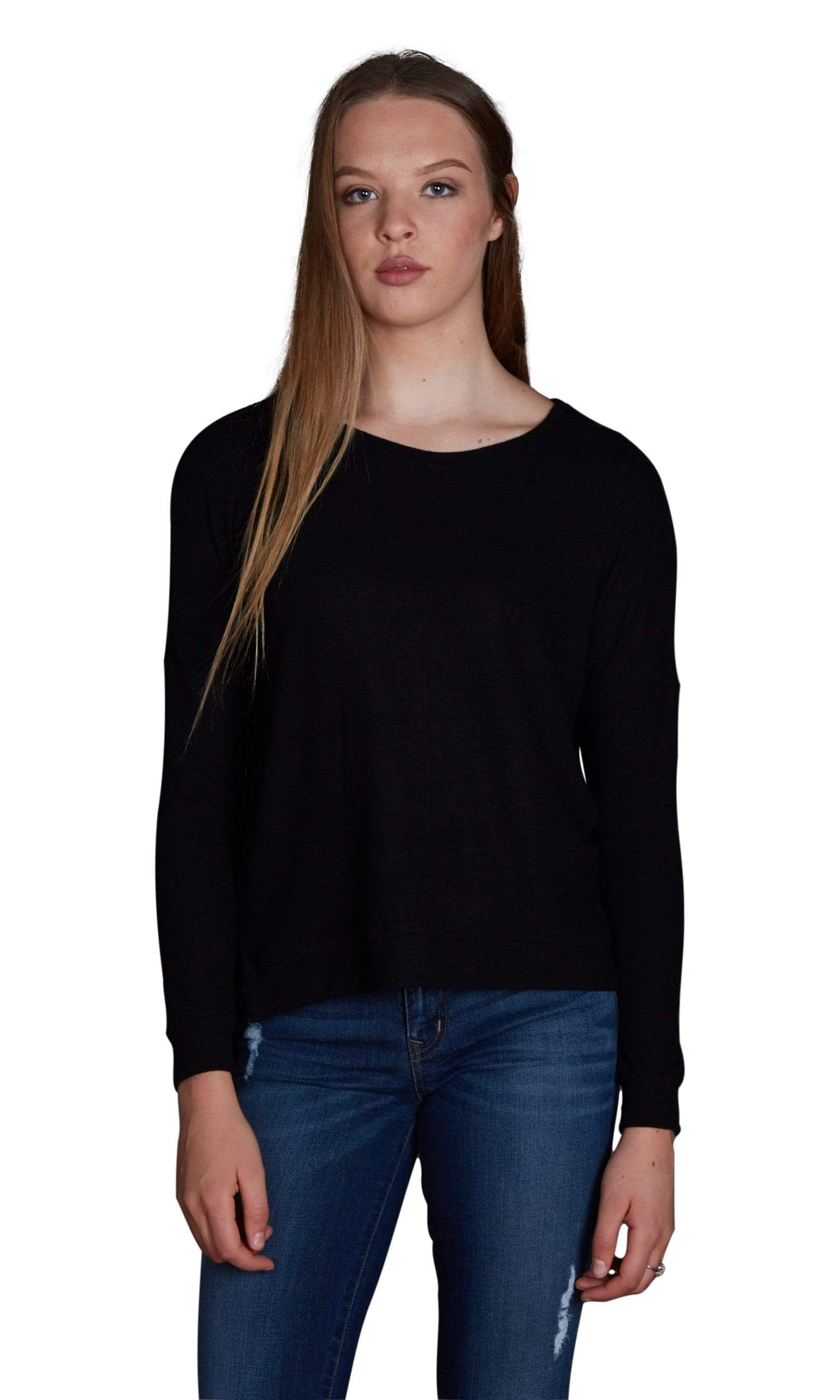 Velvet by Graham & Spencer Ciara Cozy Jersey Hi Low Hem Top
