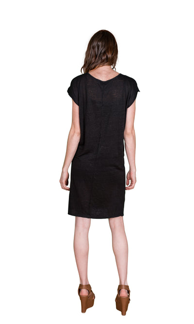 Velvet by Graham & Spencer Kezia Linen Knit Tee Dress-Velvet-Vintage Fringe