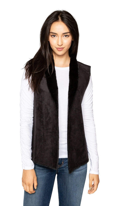 Velvet by Graham & Spencer Yvette Lux Faux Fur Vest