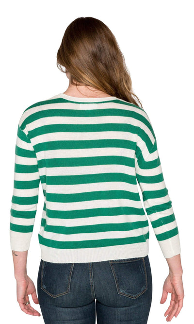 Velvet by Graham & Spencer Rylan Stripe Cashmere Blend Sweater