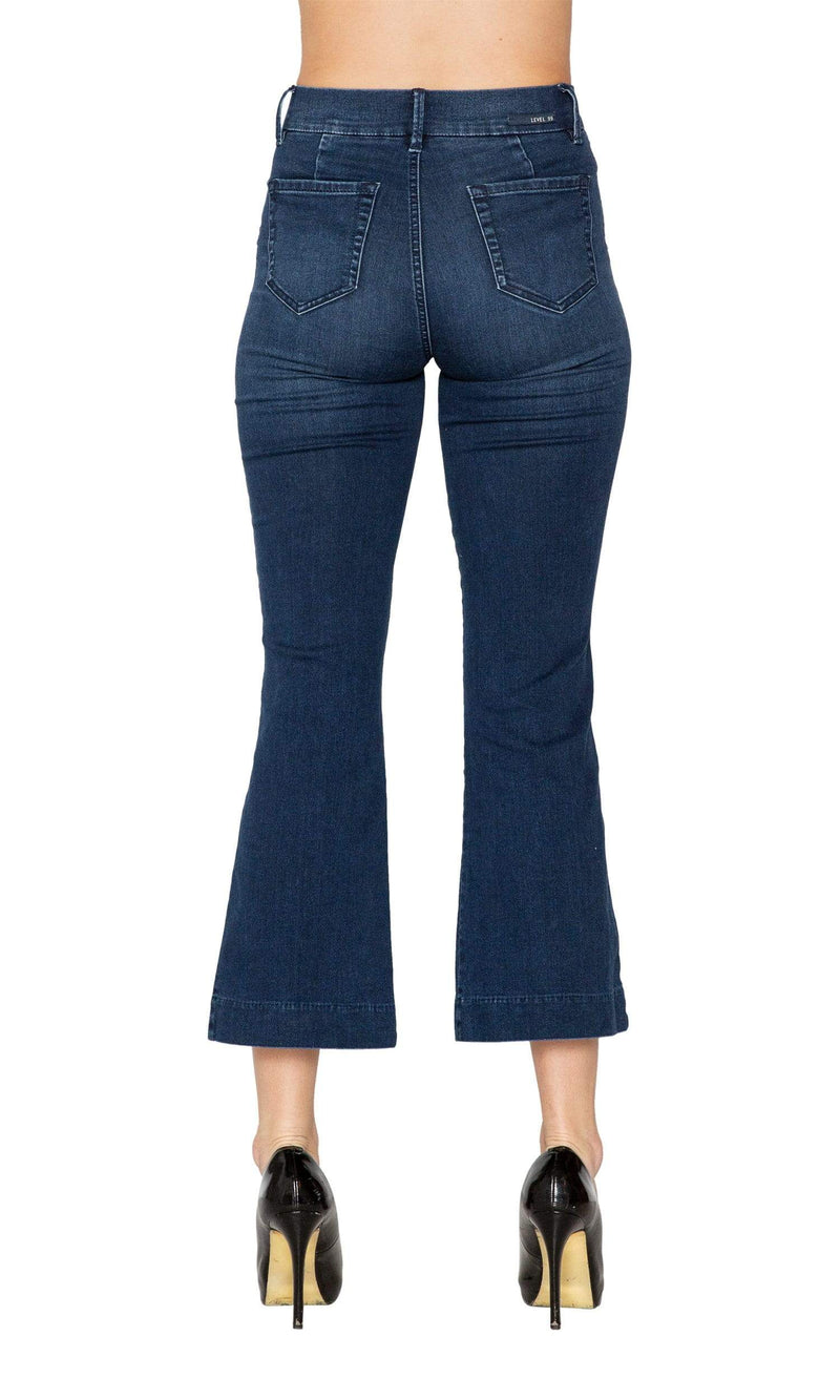Level 99 Camille Seamed Kick Flare Denim
