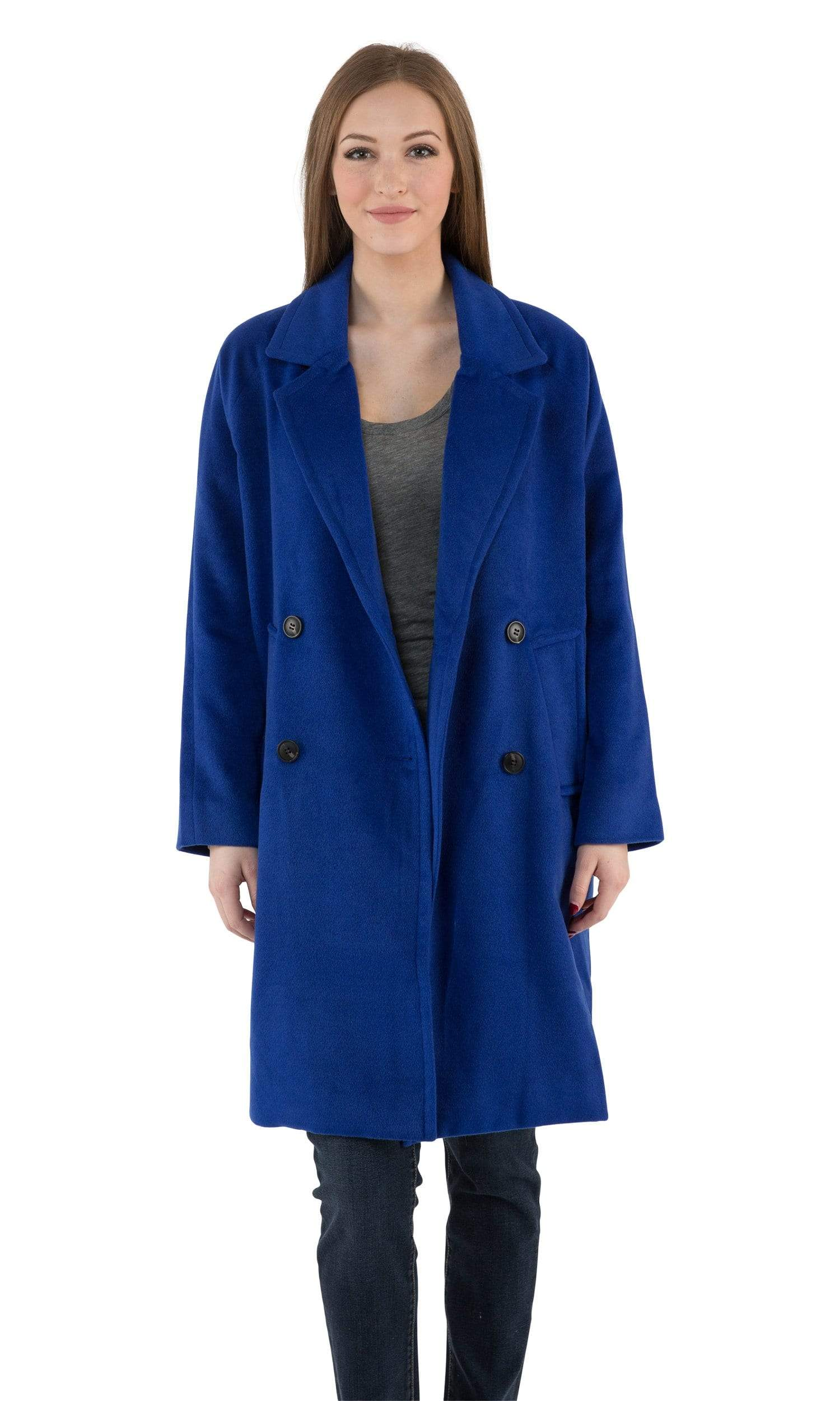 J.O.A. Long Cobalt Coat