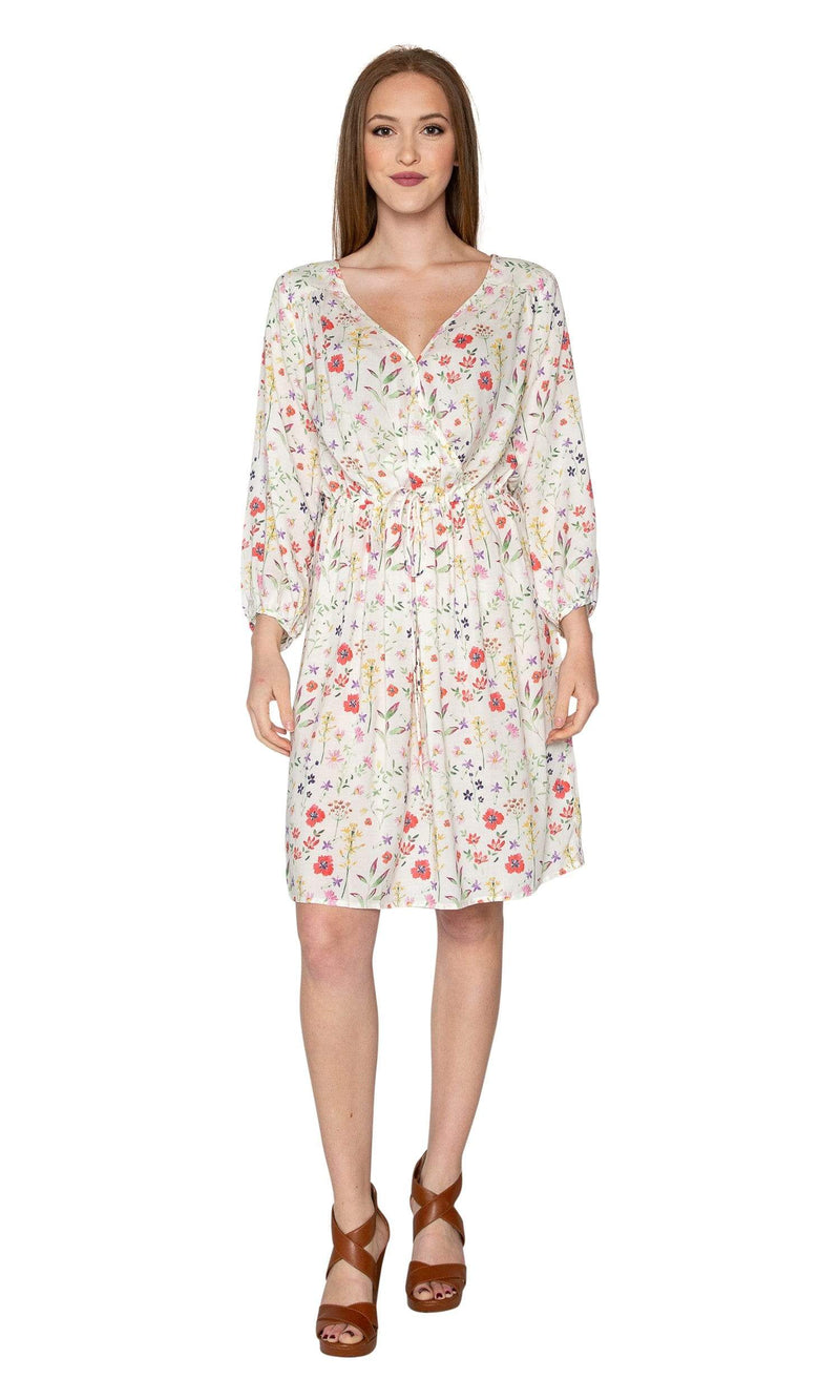 Velvet by Graham & Spencer Danay Spring Floral Challis Long Sleeve Faux Wrap Dress