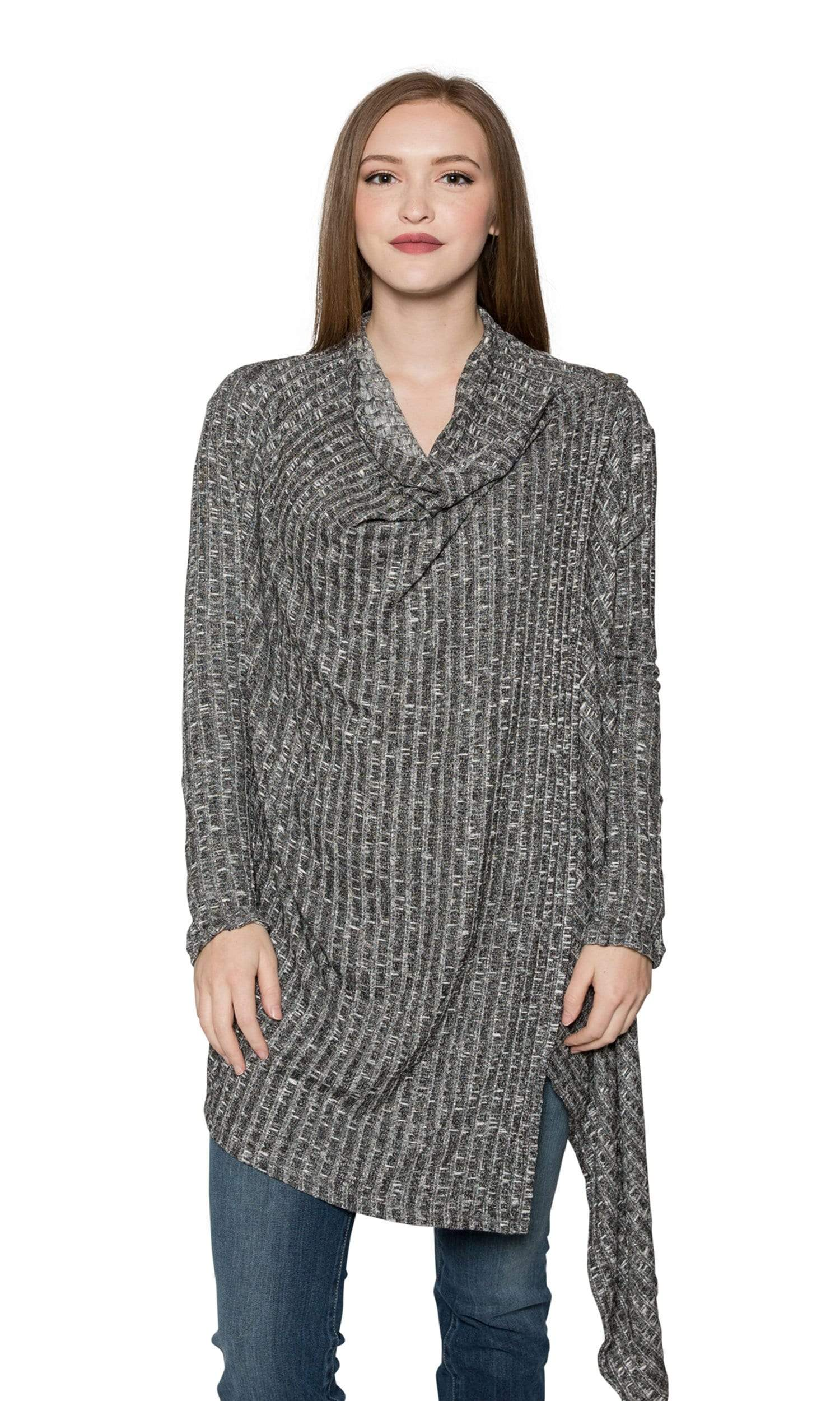 Valln Drape Button Cardigan