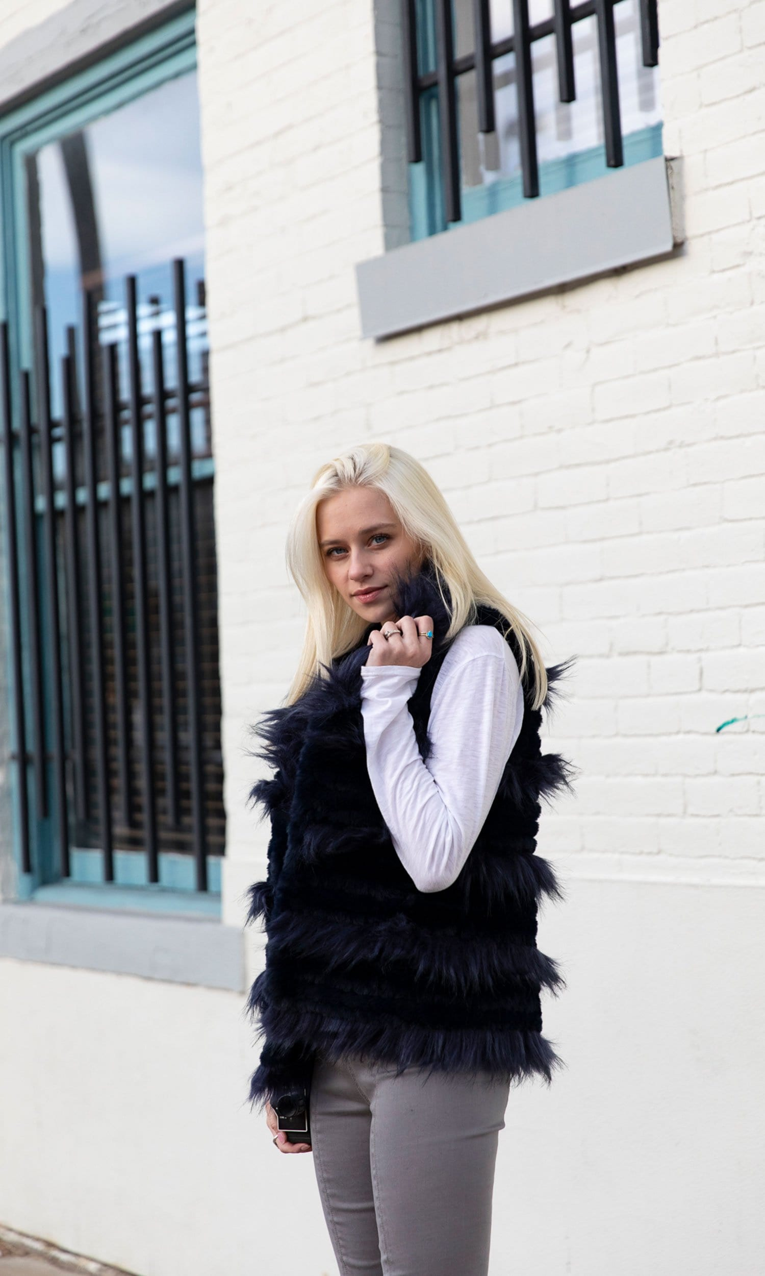 Love Token Alessa Faux Fur Vest