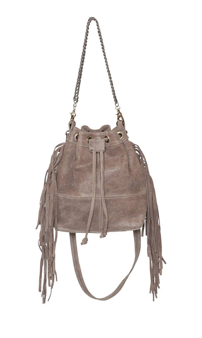 Laggo Mini Barcelona Bucket Bag with Fringe-LAGGO-Vintage Fringe