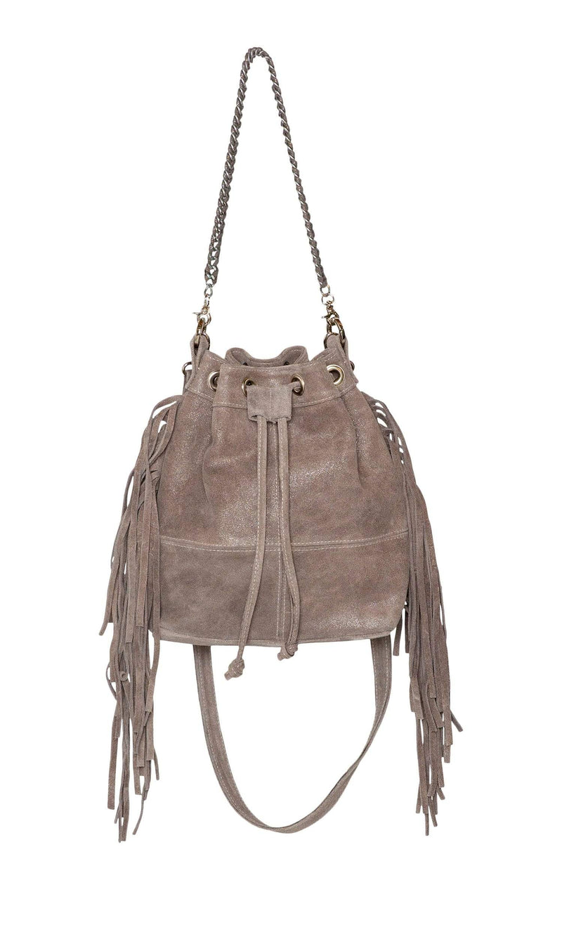 Laggo Mini Barcelona Bucket Bag with Fringe