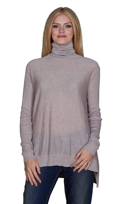 Velvet by Graham & Spencer Fae Lux Cotton Turtleneck Sweater-Velvet-Vintage Fringe