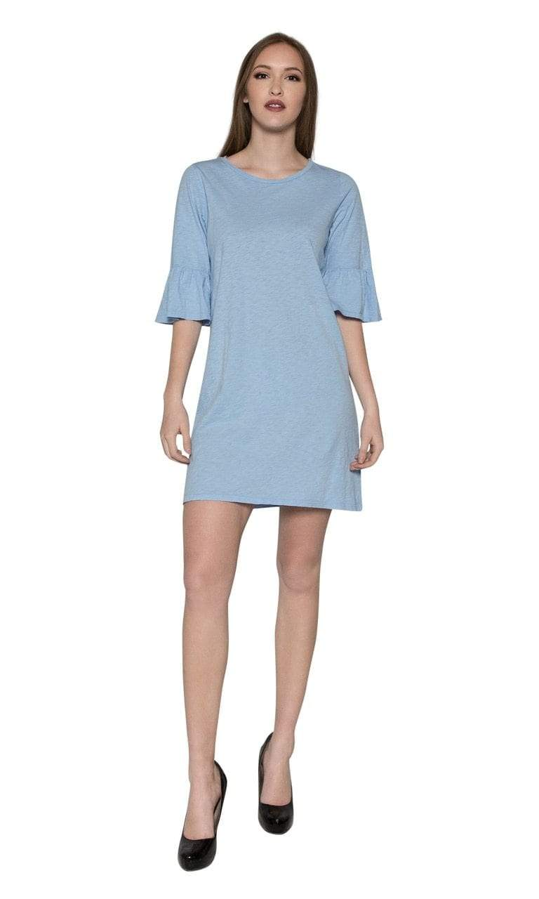 Velvet by Graham & Spencer Annabelle Cotton Slub Ruffle Sleeve Dress