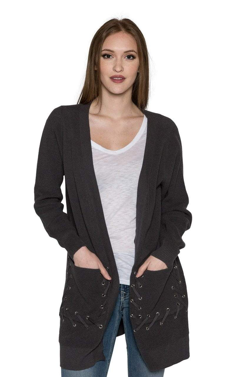 Caryn Vallone Tie Cardigan with Pockets