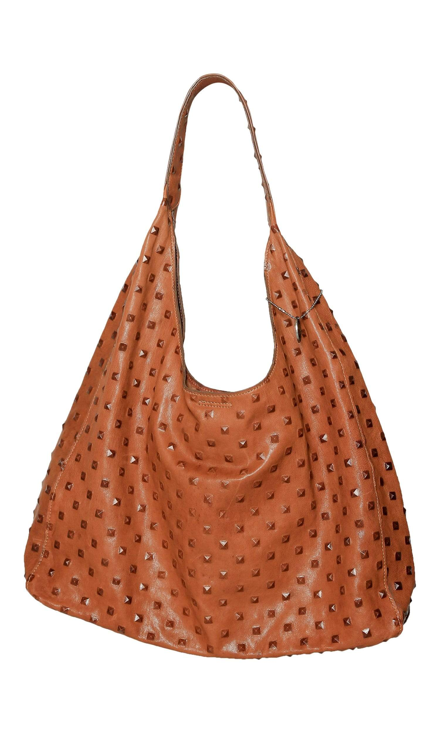 Streets Ahead Carrie Pyramid Embossed Leather Hobo