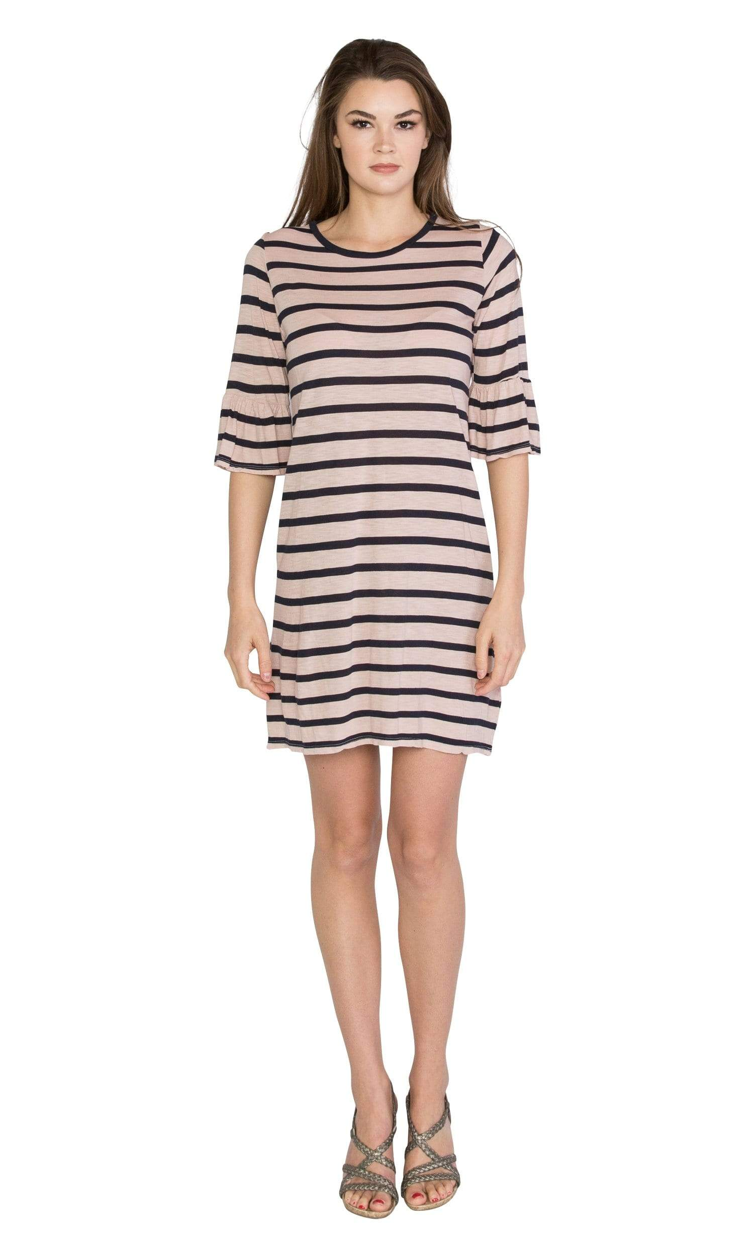 Velvet by Graham & Spencer Andena Cotton Modal Stripe Dress