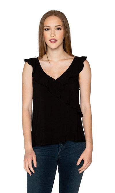 Velvet by Graham & Spencer April Rayon Challis Ruffle Top
