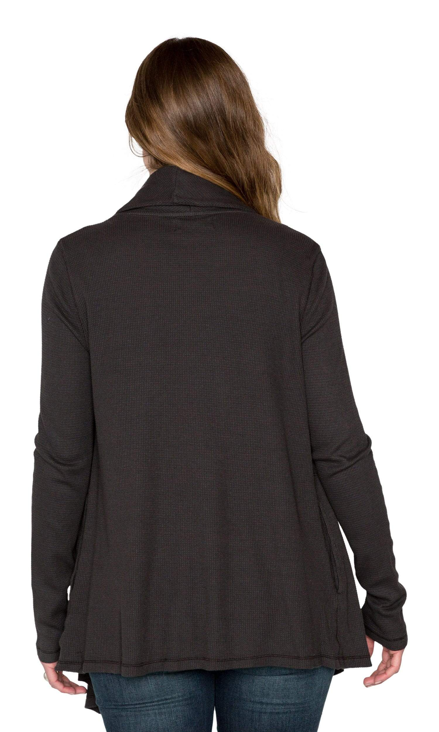 Velvet by Graham & Spencer Havana Baby Thermal Drape Cardigan