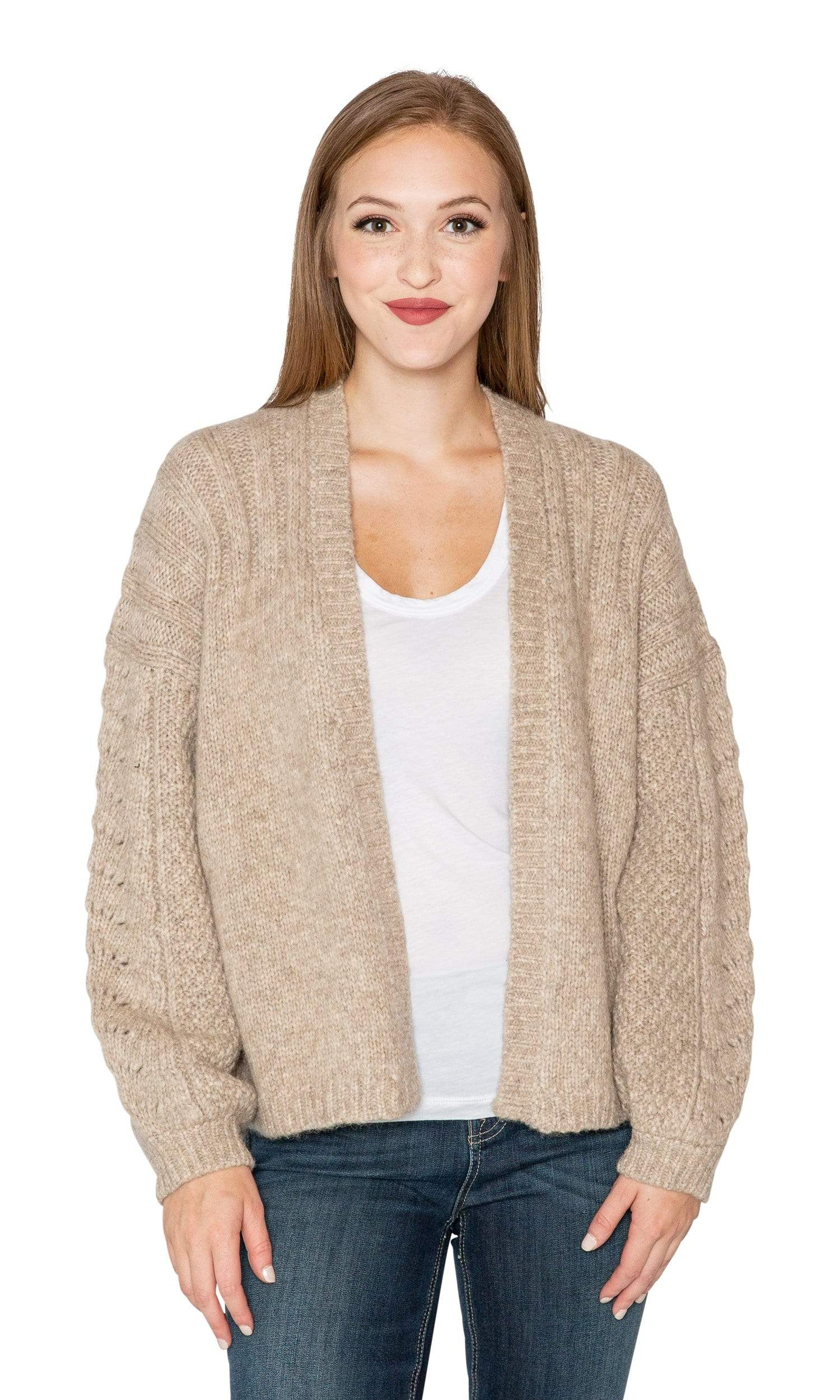 Velvet by Graham & Spencer Beverlee Alpaca Open Cardigan Sweater