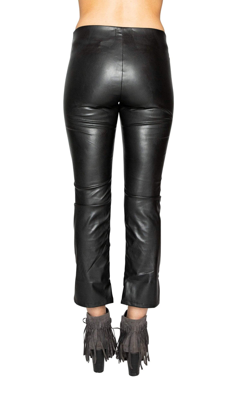 Velvet by Graham & Spencer Santana Faux Leather Cropped Pants
