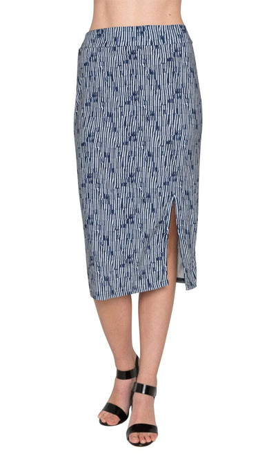 Viereck Ashcraft Pencil Skirt with Slit-Viereck-Vintage Fringe