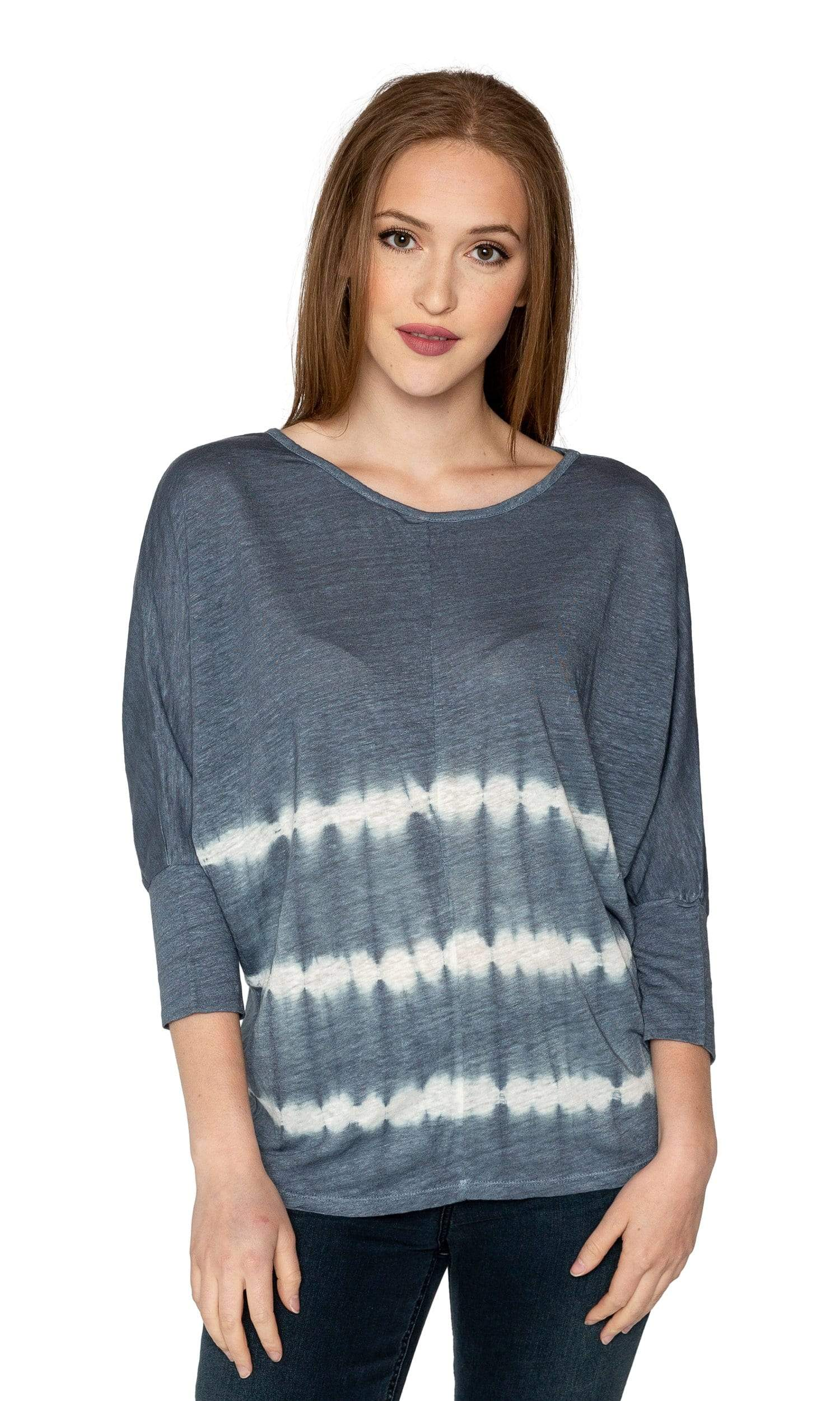 Velvet by Graham & Spencer Amber Tie Dye Dolman Sleeve Top