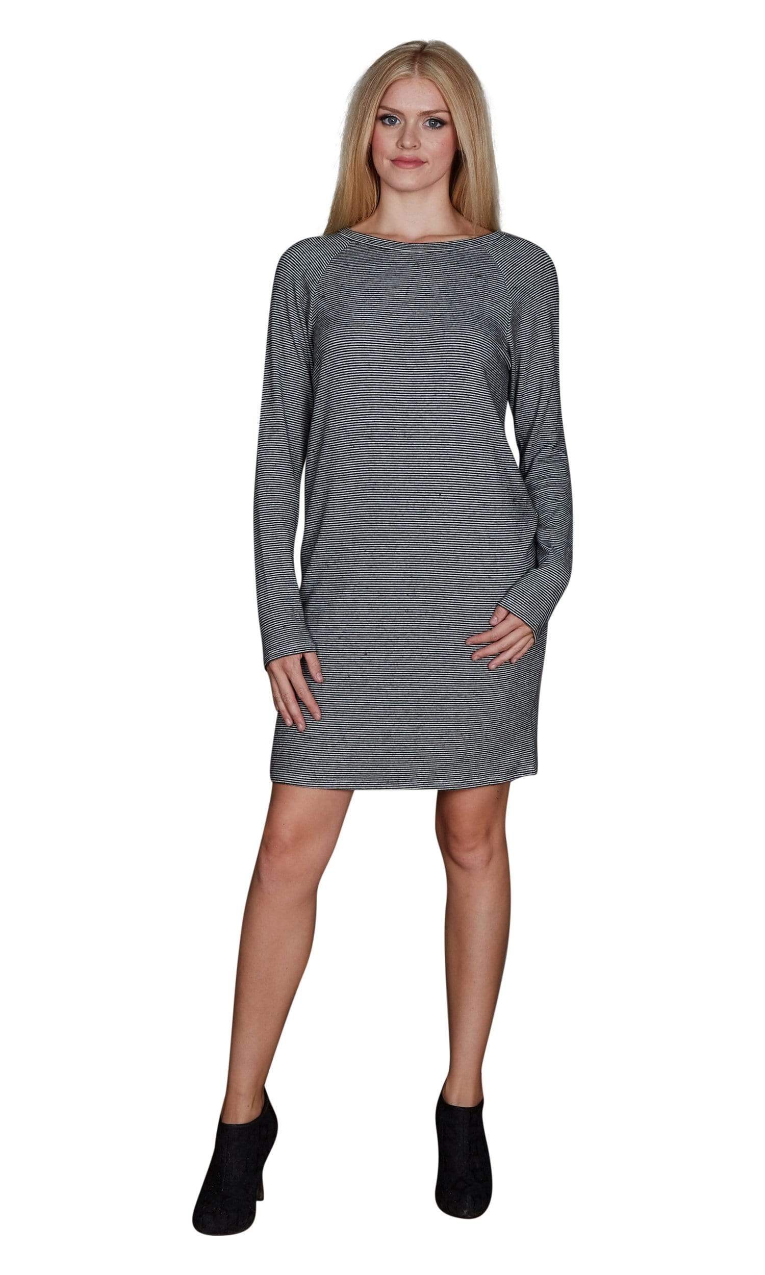 Velvet by Graham & Spencer Diya Stripe Cozy Jersey Dress