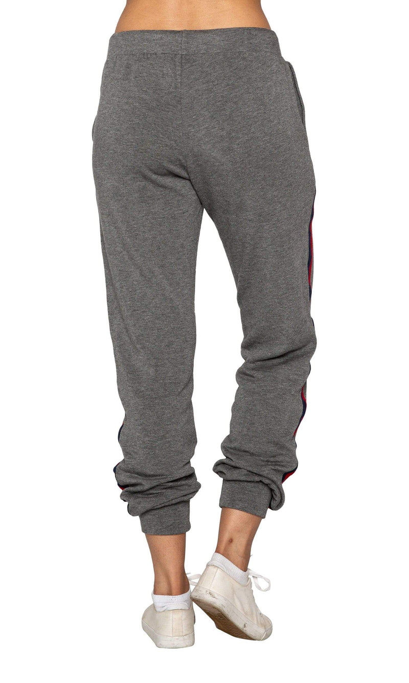Velvet by Graham & Spencer Dior Stripped Jogger Pants - Charcoal