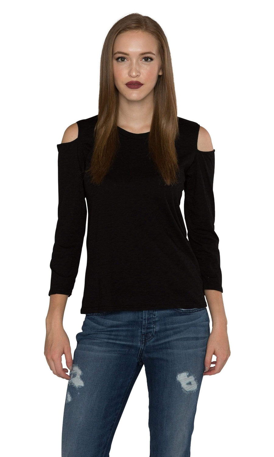 Velvet by Graham & Spencer Bria Cotton Slub Cut Out Top