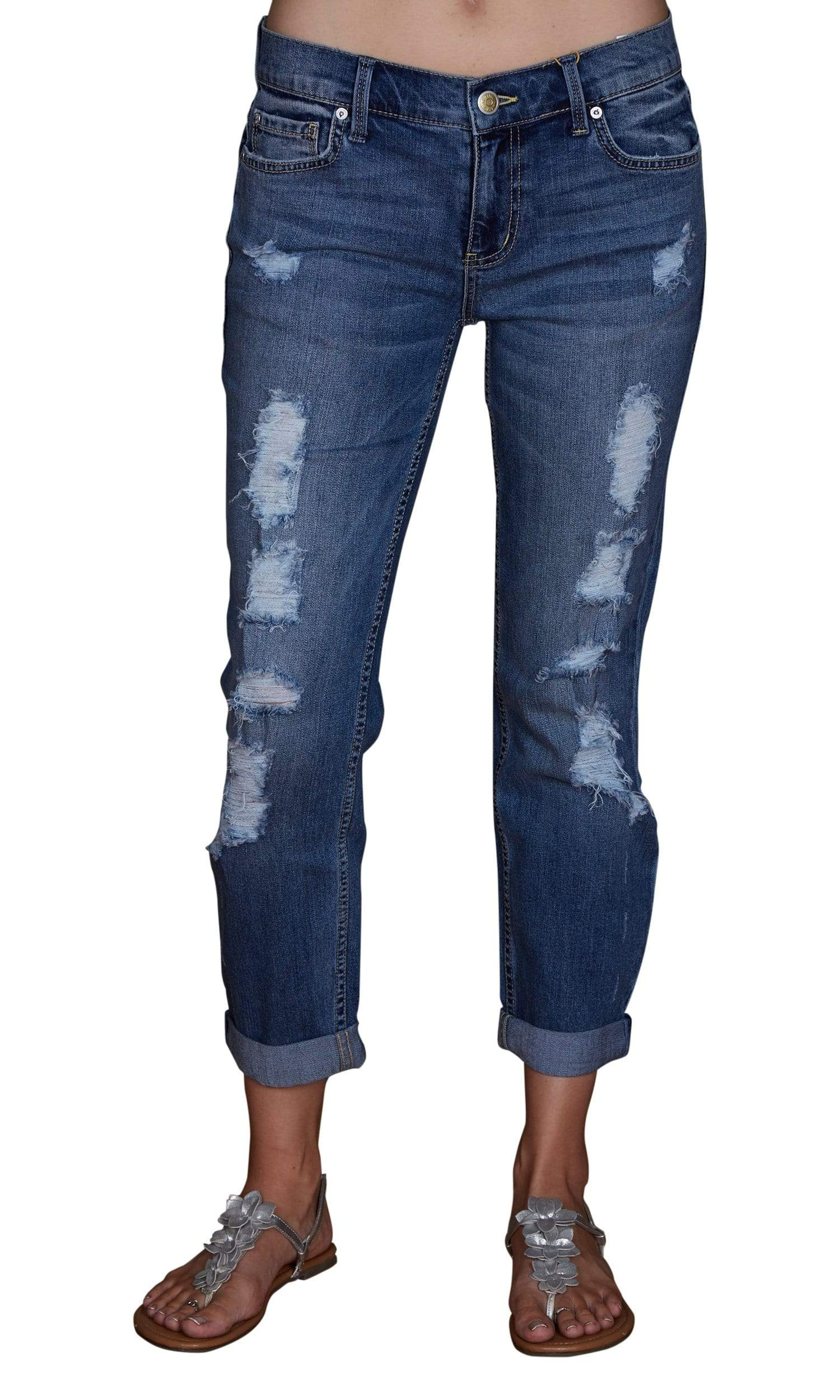 Level 99 Sienna Tomboy Fit Denim - Seaside