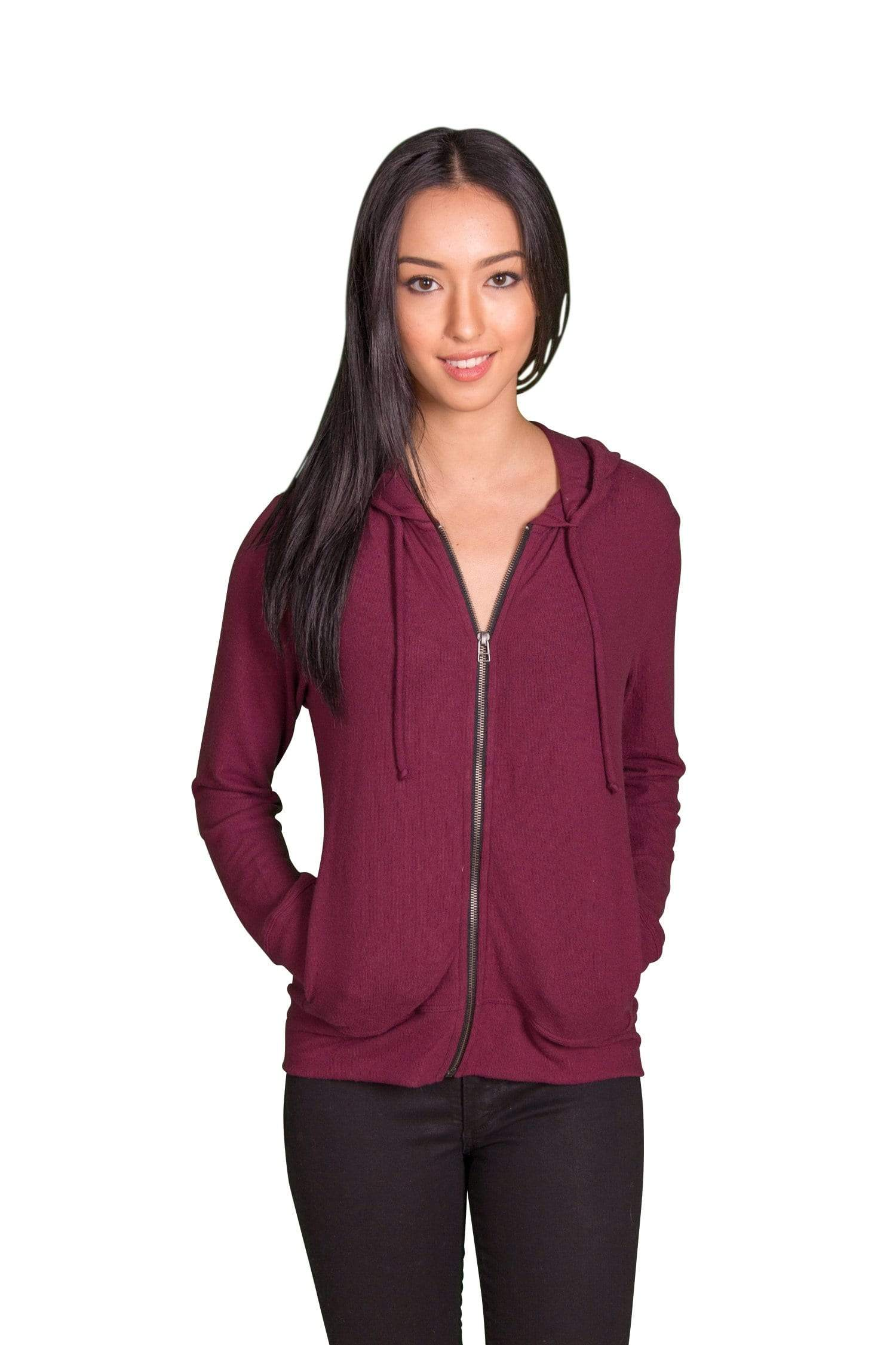 Velvet by Graham & Spencer Aviana Cozy Jersey Zip Up Hoodie