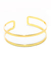 Double Band Gold Cuff - Fashion You Up