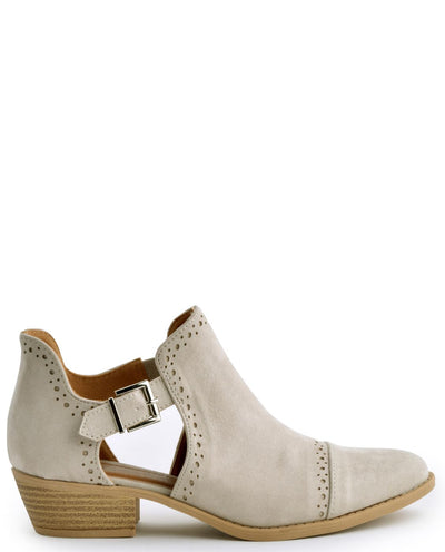 Faux Suede Buckle Booties - Fashion You Up