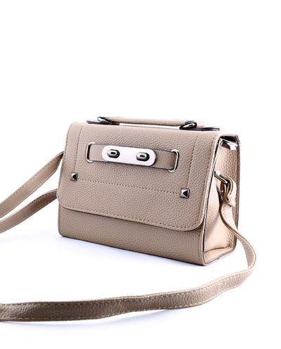 Vegan Leather Buckled Crossbody Purse - Fashion You Up