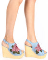 Slingback Denim Wedges - Fashion You Up