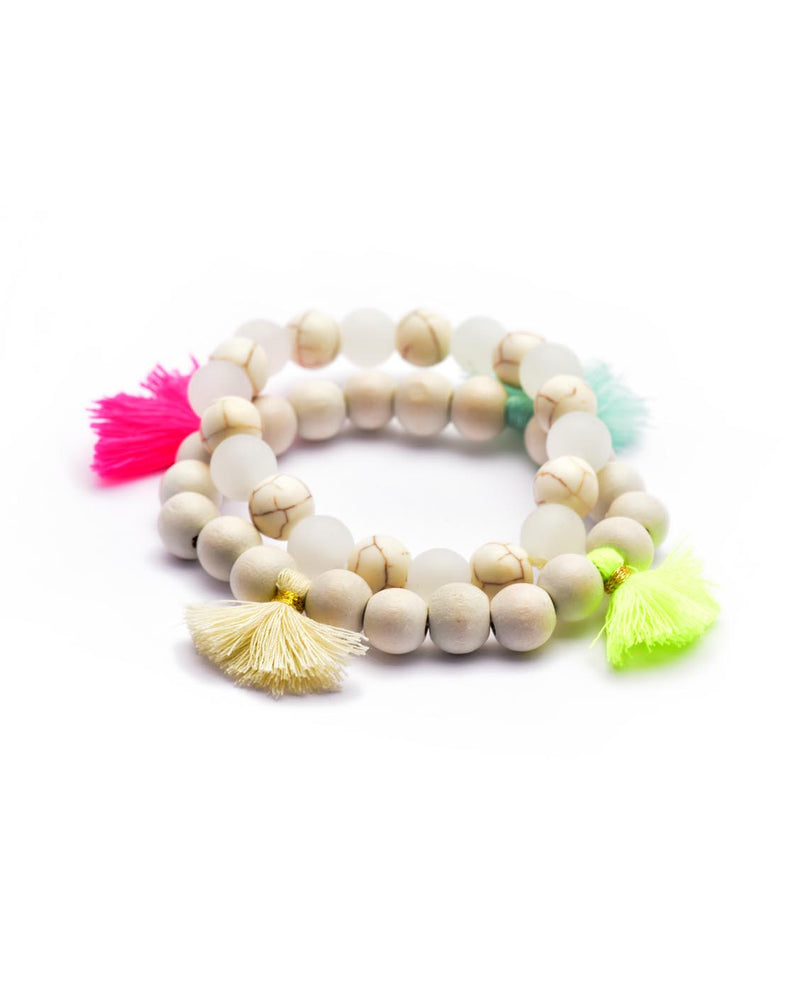 Bead Bracelet with Bright Tassels - Fashion You Up