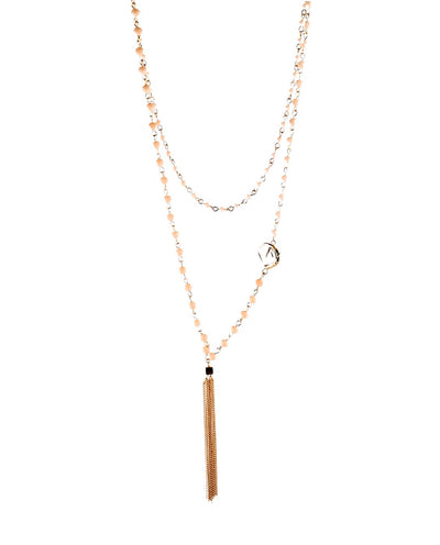 Beaded Wrap Necklace with Tassel - Fashion You Up