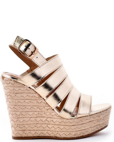 Strappy Espadrille Wedge Espadrille Sandals - Fashion You Up