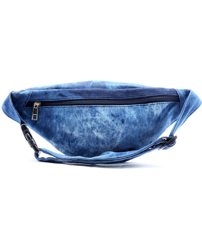 Patched Denim Fanny Pack - Fashion You Up