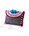 Crossbody Bag with Pom Poms - Fashion You Up