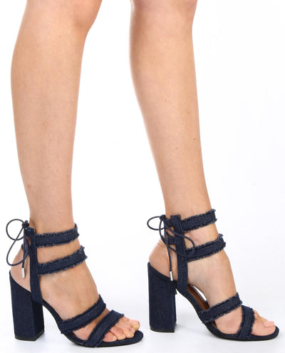 Denim Heels - Fashion You Up
