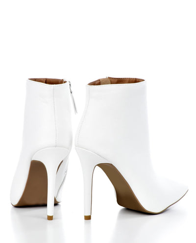 Pointed Toe Stiletto Ankle Booties - Fashion You Up
