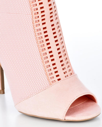 Knitted Peep-Toe Sock Booties - Fashion You Up