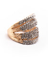Stacked Rhinestone Statement Ring - Fashion You Up