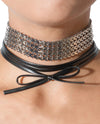 Chain And Faux Leather Choker - Fashion You Up