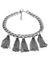 Chain and Tassel Statement Necklace - Fashion You Up