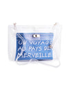 Transparent Clutch with French Writing - Fashion You Up
