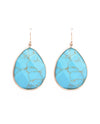 Carved Turquoise Drop Earrings - Fashion You Up