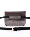 Metallic Faux Snake Skin Fanny Pack - Fashion You Up
