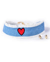 Heart Denim Choker - Fashion You Up